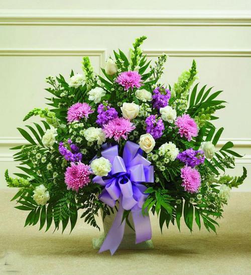 Lavender and White Sympathy Basket-FNFSB-07