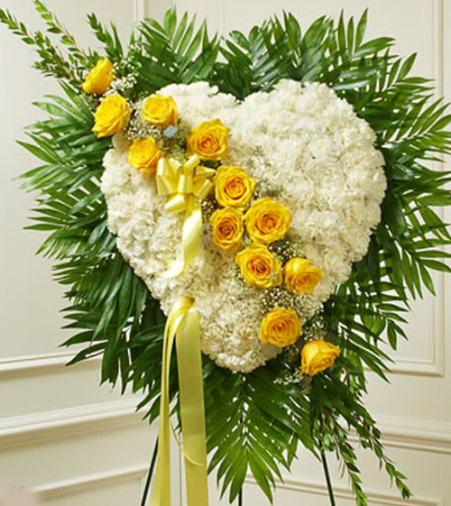 Yellow and White Heart-FNSTH-03