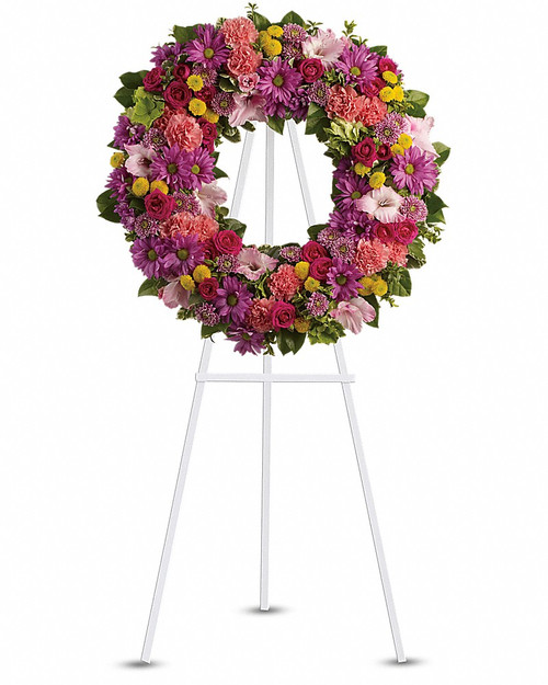 Mixed Colors White Wreath-FNFSW-07