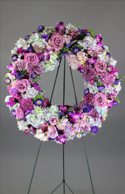 Purple Passion Wreath-FNFSW-12