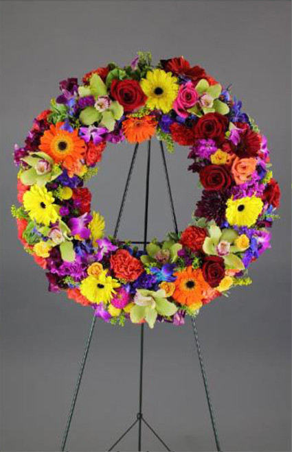 Vibrant Colors Wreath-FNFSW-13