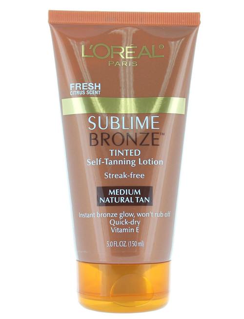 Loreal Sublime Bronze Tinted Self-Tanning Lotion Medium Natural Tan