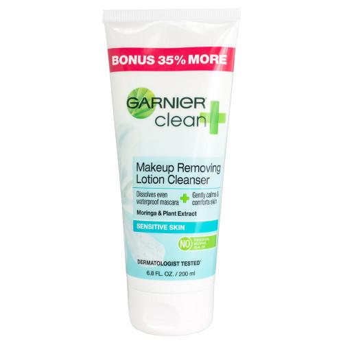 Garnier Clean+ Makeup Removing Lotion Cleanser for Sensitive Skin, 6.8 Fl Oz