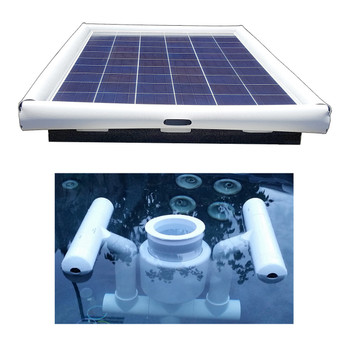 Savior Surface Pool Skimmer Floating Solar Pool Cleaner 120-watts Solar Powered