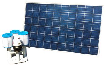 Bottom Feeder 40000 Gallon Pool 220-watt Solar Pump and Filter System