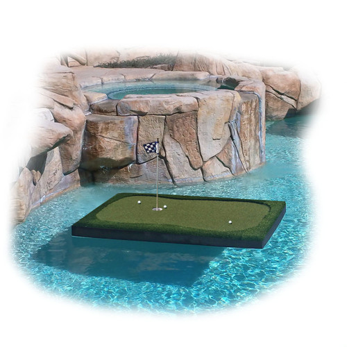 Golf Floating Pool Island Savior - 6 Feet Long by 4 Feet Wide by 4 Inches Thick - 6'x4'x4""