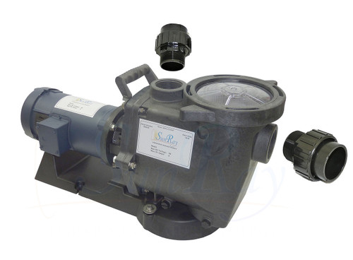 SunRay SolFlo1 (without solar) 1 HP DC Solar Pool Pump Systems 120GPM 0FT Head 90VDC