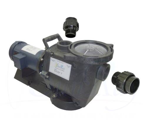SunRay SolFlo1 - 2 HP DC - 8 Solar Panels 2Kw Filter Pool Pump Systems 85GPM 35FT Head 180VDC Brush Type Motor Complete