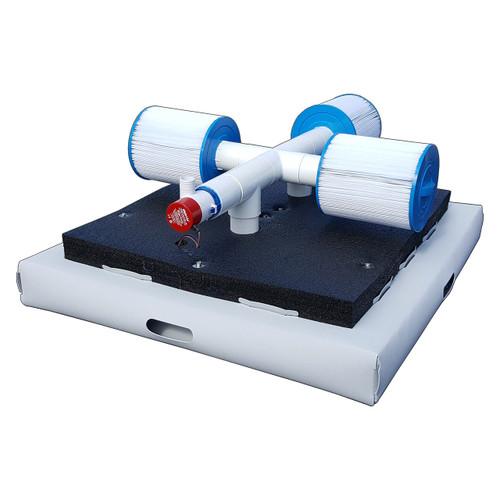 Savior 10000 Gallon Pool or Spa 60-watt Solar Pump and Filter System Solar Pool Cleaner