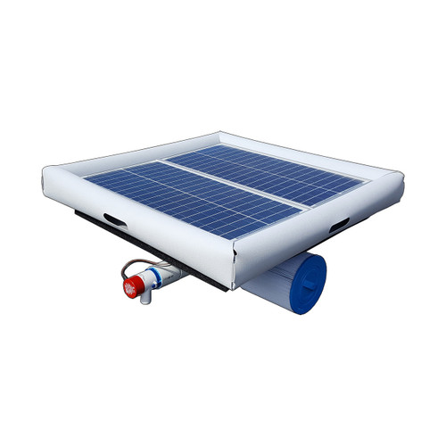 Savior Ionizer Ozone Aerator Pump Filter Pool Spa Pond 10000 Gallon 60-watt Solar Powered System