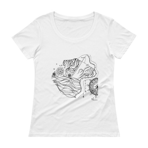 Tale of faces Ladies' Scoopneck T-Shirt
