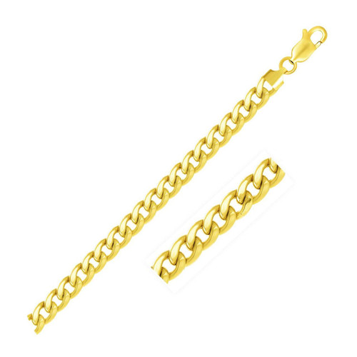 6.7mm 14K Yellow Gold Light Miami Cuban Chain