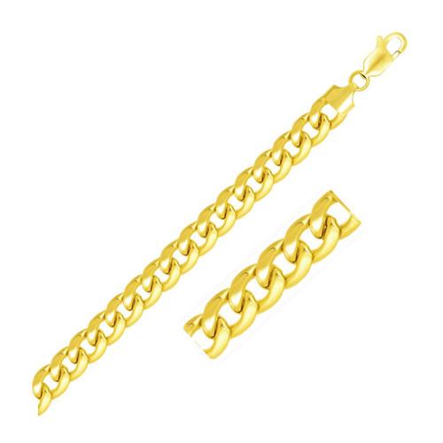 7.8mm 14K Yellow Gold Light Miami Cuban Chain