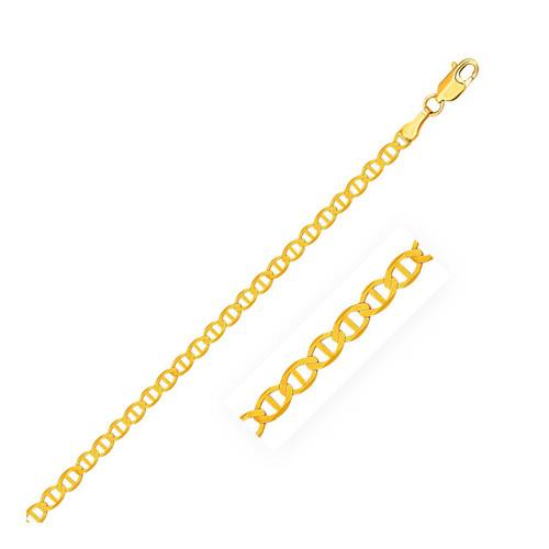 3.2mm 10K Yellow Gold Mariner Link Chain