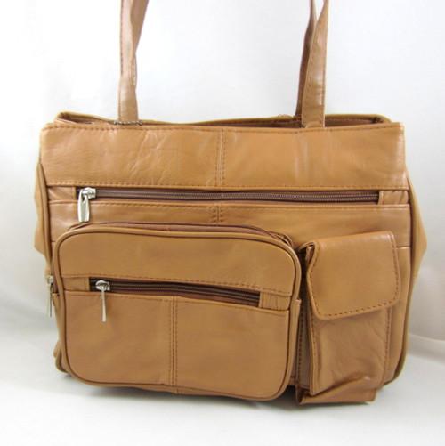 Vallemosso Tan Soft Cowhide Shoulder Bag Shopper