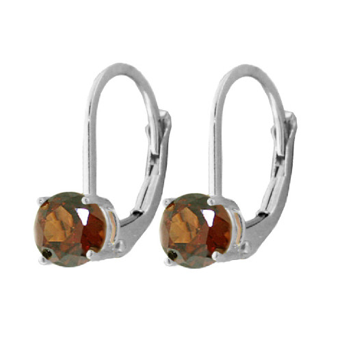 Gets Me Thinking Garnet Lever Back Earrings Sterling Silver 1.2 Carat