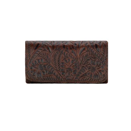 American West Annie's Secret Collection Ladies' Tri-fold Wallet Chestnut