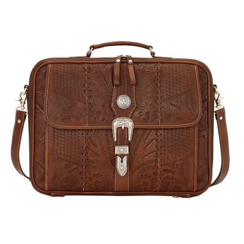 American West Retro Romance Collection Laptop briefcase Antique Brown
