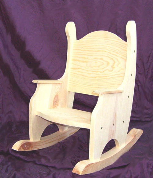 Merveilleux Childu0027s Rocking Chair, Unfinished Pine W/o Hearts