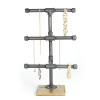 Jewelry Display Rack - 3-Tier Industrial Style Pipe