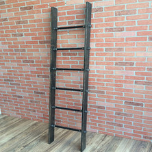 Industrial Pipe Ladder Display with Cedar Wood