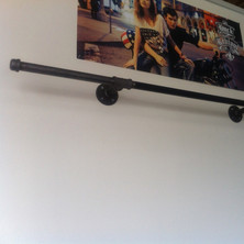Industrial Pipe Clothing Rack | 53 Inch Straight Bar