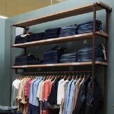 Industrial Pipe Clothing Rack | Large Wall Rack