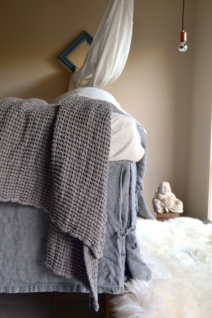 Fossil Grey Heavy weight Linen Box Pleated Valance⎮Bedskirt⎮Dust Ruffle
