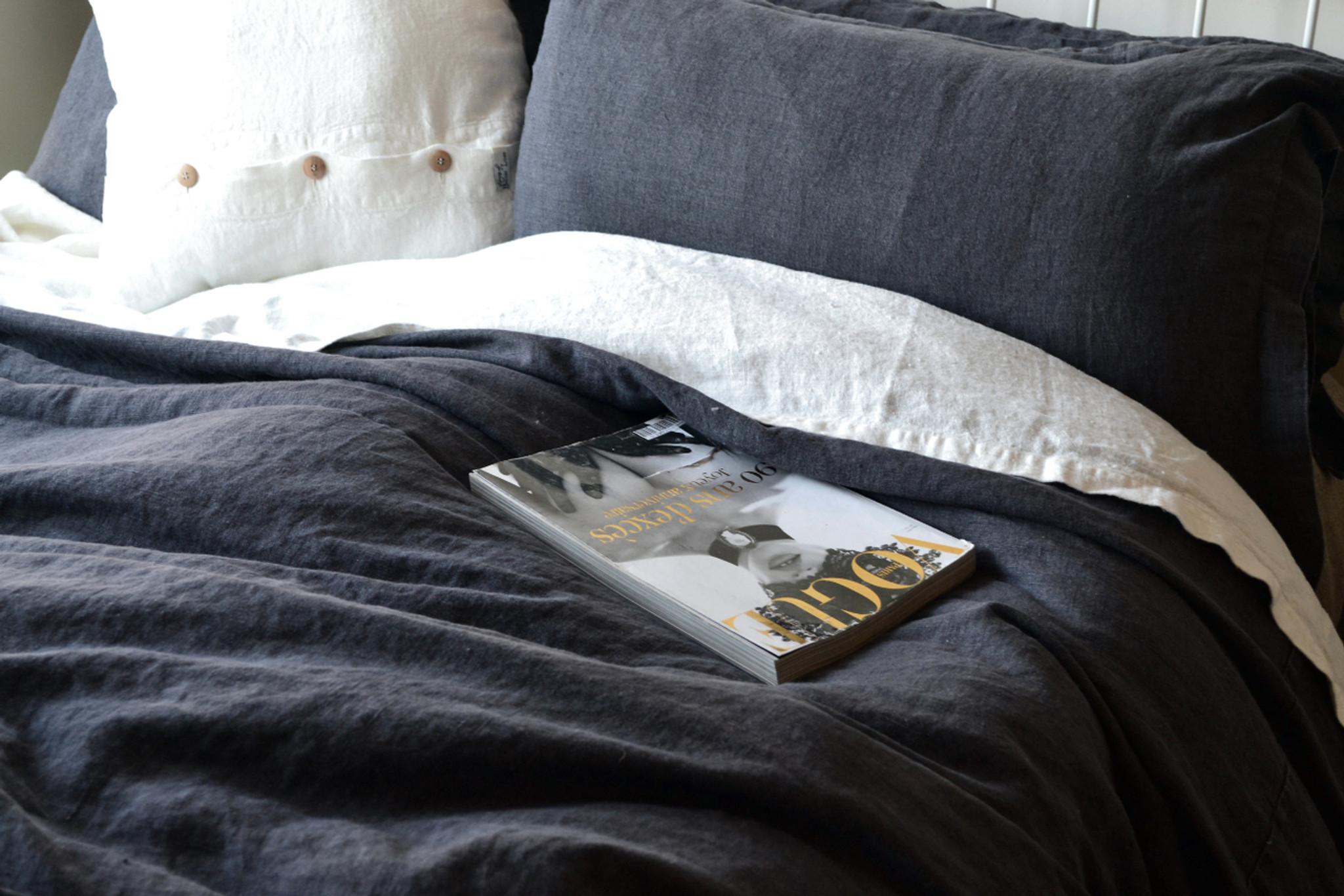 ... Peppercorn Rustic Heavy Weight Linen Quilt/Duvet Cover, ...