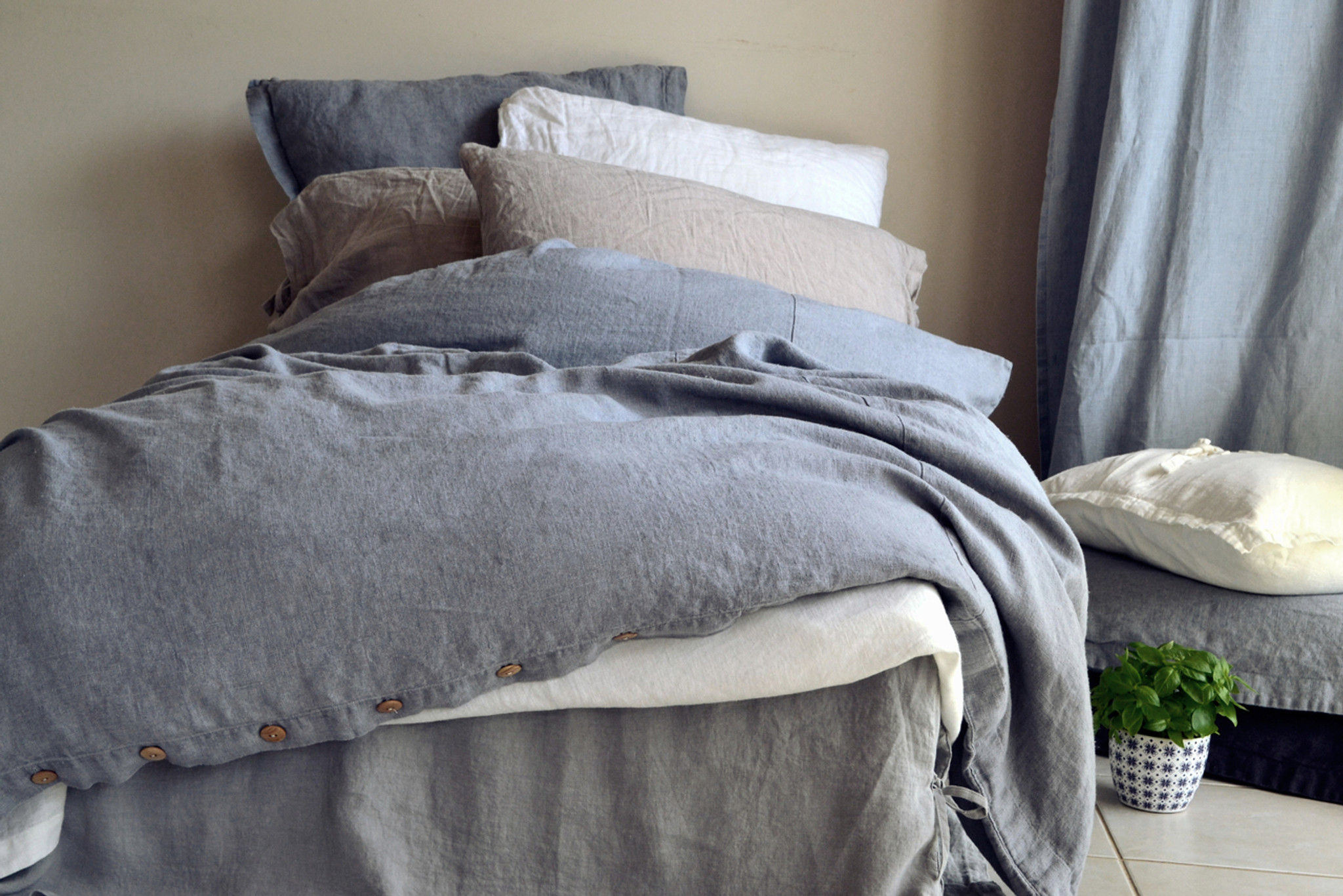 to matteo has a decade passed that been most about linen cover this for over our fabric pays homage gray duvet everything we down popular collection vintage love