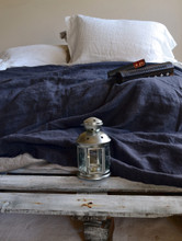 Peppercorn Dark Grey Rustic Heavy Linen Bed cover/Coverlet