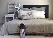 Pure Elegance, Softened natural linen duvet cover, Natural