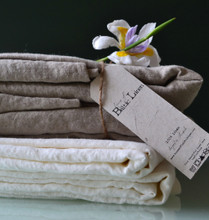Luxurious linen King size top sheet, Natural