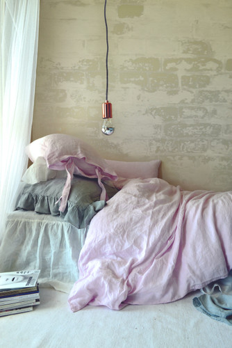 Superior Dusty Pink Stonewashed Linen Duvet Cover