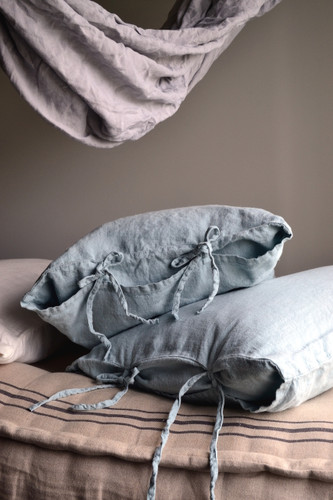 Duck Egg Blue Rustic Heavy weight  linen pillow case, All sizes
