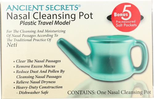 Nasal Cleansing Pot Plastic Travel