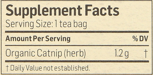 Tea Catnip Herbal Supplement 24 Tea Bag 1.02 Ounce