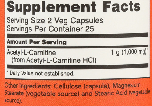 Acetyl-L Carnitine 500 mg - 50 Vcaps®