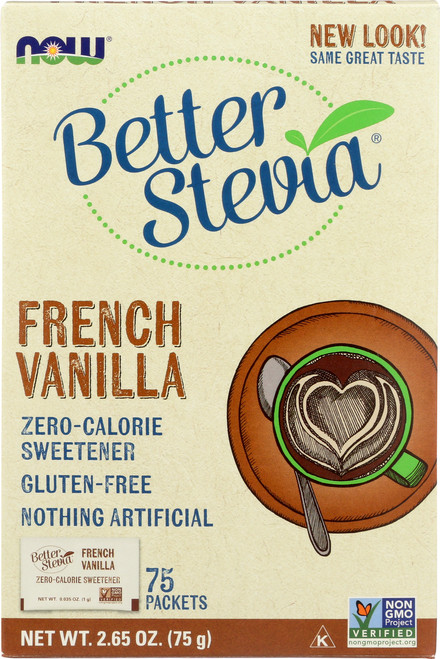 Better Stevia® French Vanilla - 75 Packets/Box