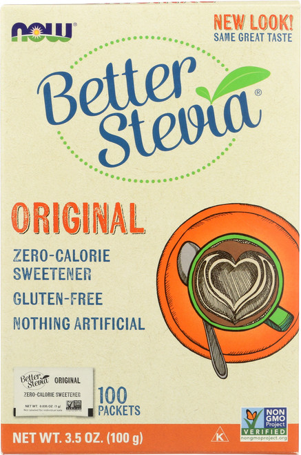 BetterStevia® Extract Packets - 100 Packets/Box