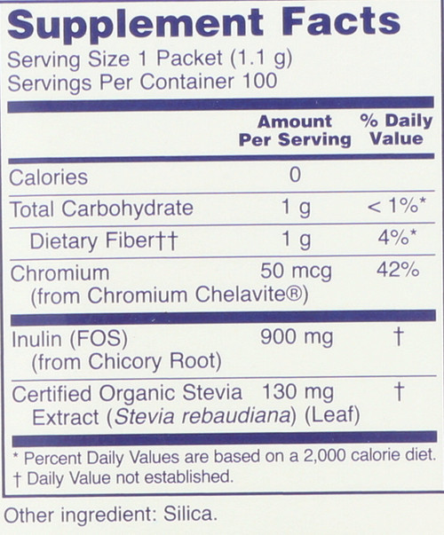 BetterStevia® Balance with Chromium & Inulin - 100 Packets