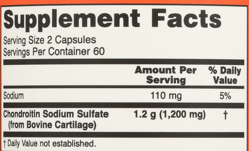 Chondroitin Sulfate 600 mg - 120 Capsules