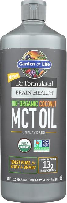 Dr. Formulated Brain Health Organic Coconut MCT Oil 32 Ounce
