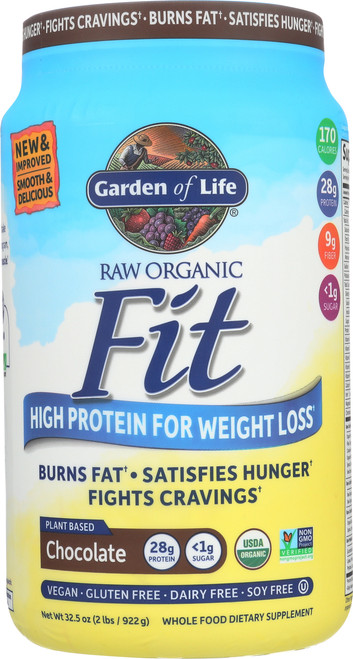 Org. Raw Fit - Chocolate Double Size 922G Powder