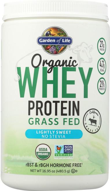 Organic Grass Fed Whey Lightly Sweet 480.5G Powder