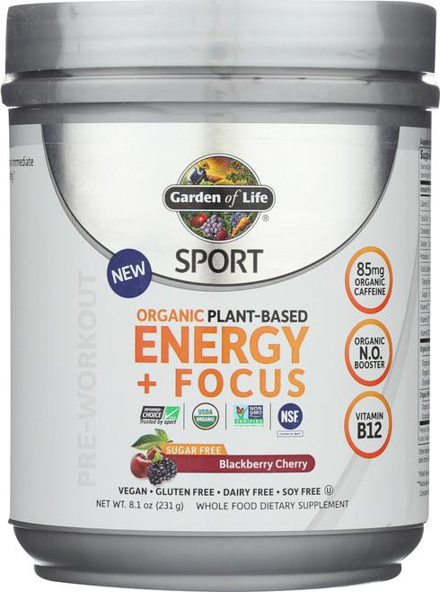 Organic Plant-Based Energy + Focus 231G Powder