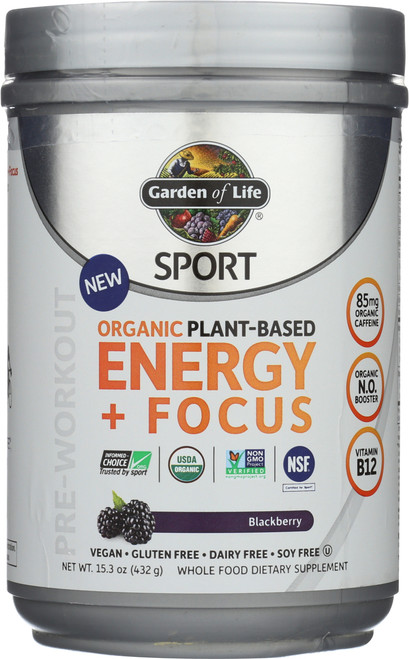 Organic Plant-Based Energy + Focus 432G Powder