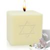 "4"" Soy Pillar Candle - Star of David"