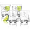 Tritan Double Old Fashioned Glasses 12oz (Set of 4) : Nautical  with Name