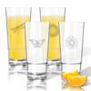 Tritan High Ball Glasses 16 oz (Set of 4): Garden